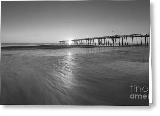 Rise And Shine At Nags Head Pier Greeting Card