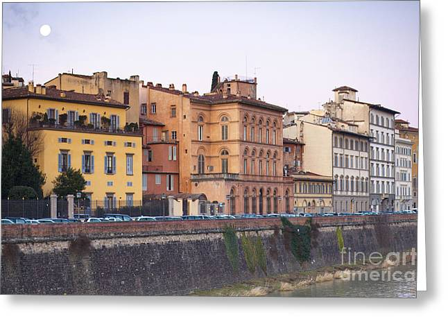 River In Florence Greeting Card by Andre Goncalves