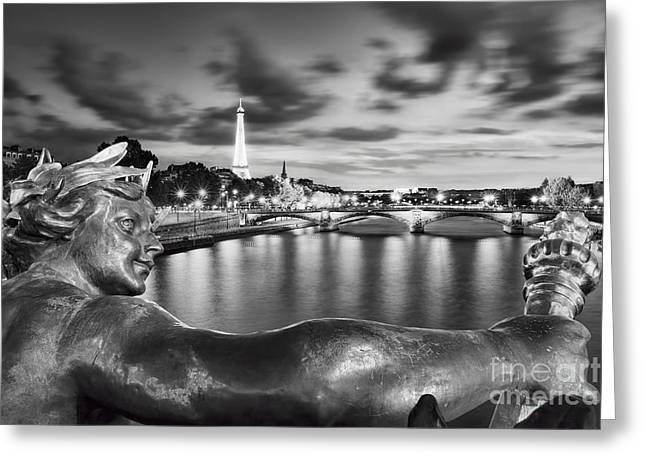 River Seine - Paris Greeting Card by Rod McLean