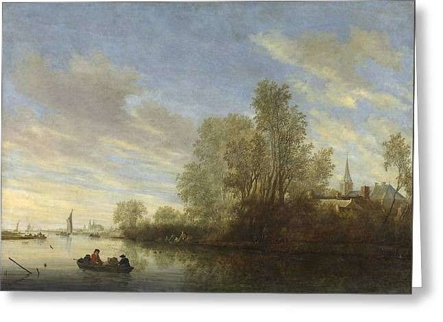River View In Deventer Greeting Card