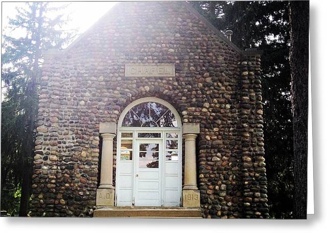 Riverside Cemetery Chapel Greeting Card