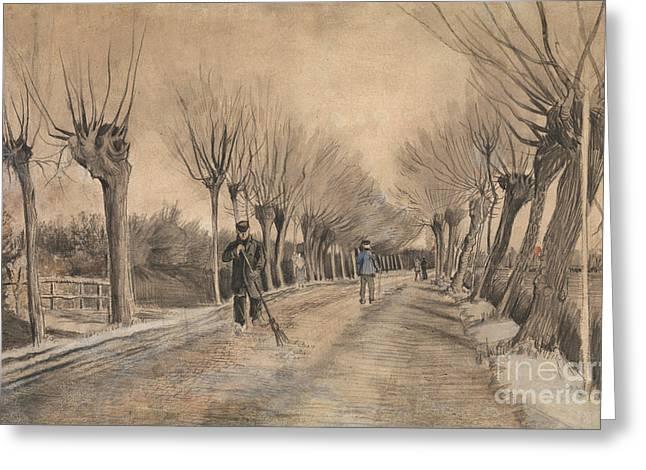 Road In Etten, 1881 Greeting Card