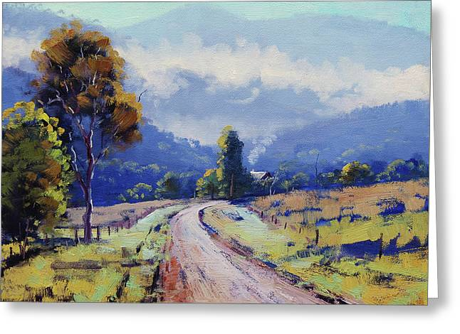 Road To The Farm Greeting Card by Graham Gercken