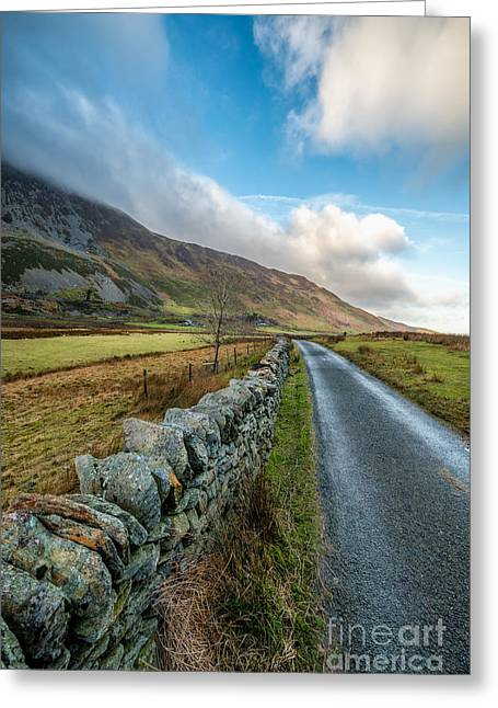 Road To Winter Greeting Card by Adrian Evans