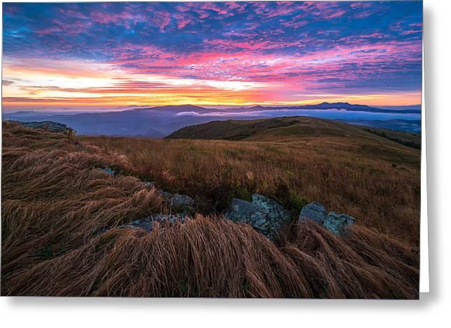 Roan Mountain Sunrise Greeting Card