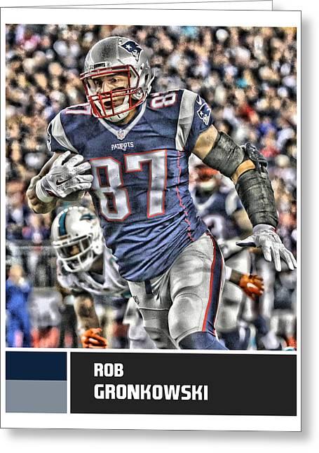 Rob Gronkowski New England Patriots Greeting Card