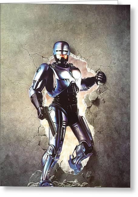 Robocop 1987  Greeting Card