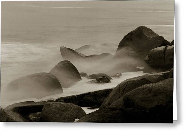 Rock And Sea Greeting Card
