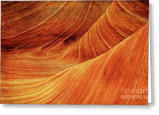 Rock Formations By Sarah Kirk Greeting Card