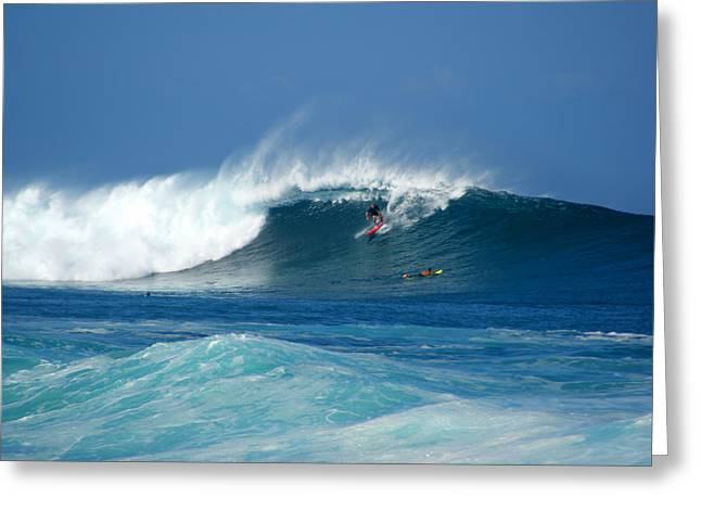 Rock Piles Surfer Greeting Card by Kevin Smith