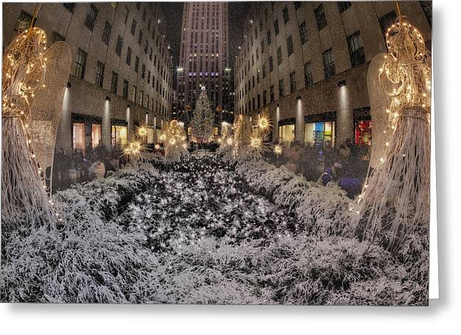 Rockefeller Center Christmas Nyc Greeting Card