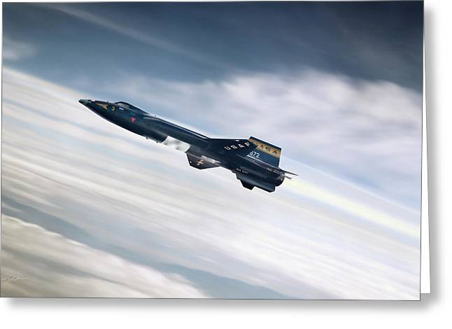Rocket Man Greeting Card by Peter Chilelli