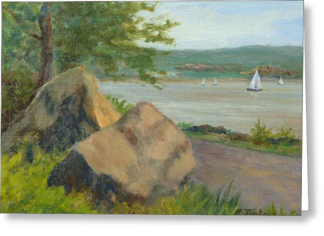 Rocks Along The Nyack Trail Greeting Card by Phyllis Tarlow