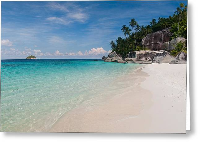 Rocks On The Beach, Pulau Dayang Beach Greeting Card by Panoramic Images