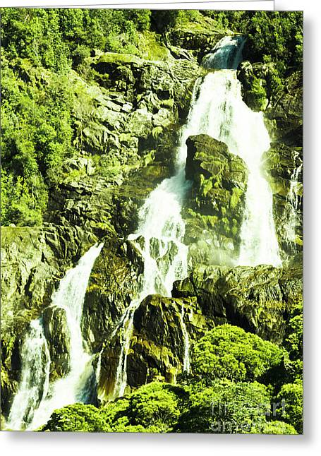 Rocky Mountain Waterfall Greeting Card