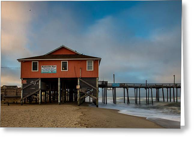 Rodanthe Pier Greeting Card by Nick Noble