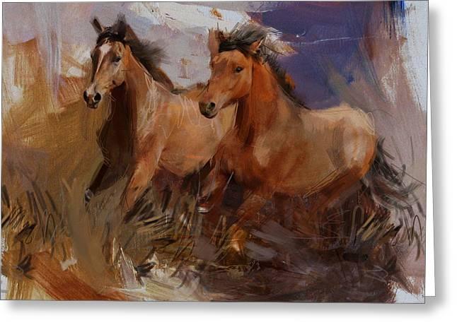 Rodeo 37 Greeting Card by Maryam Mughal