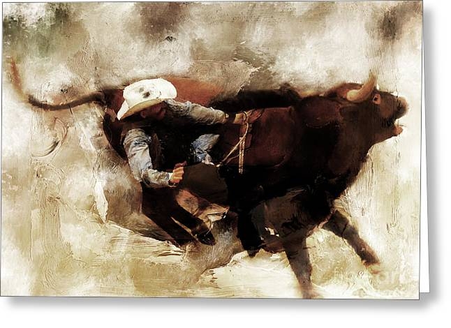 Rodeo Art  Greeting Card by Gull G