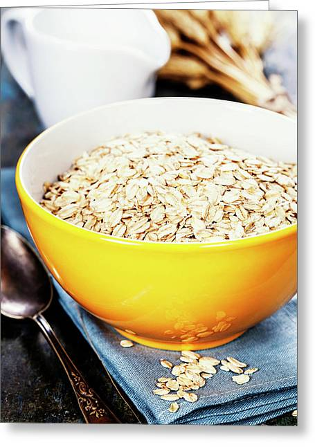 Rolled Oats In A Bowl Greeting Card
