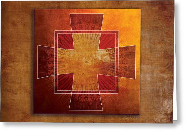 Roman Cross #3 Greeting Card by Terry Davis