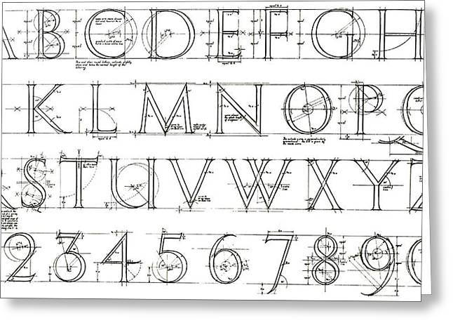 Roman Lettering From The Trajan Column Greeting Card