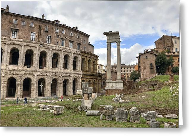 Rome - Theatre Of Marcellus Greeting Card by Joana Kruse