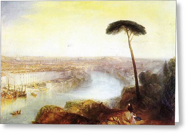 Rome From Mount Aventine Greeting Card by JMW Turner