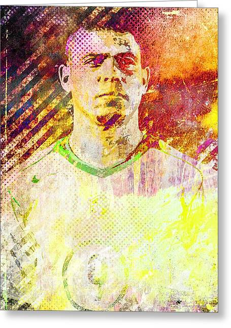 Ronaldo Greeting Card by Svelby Art