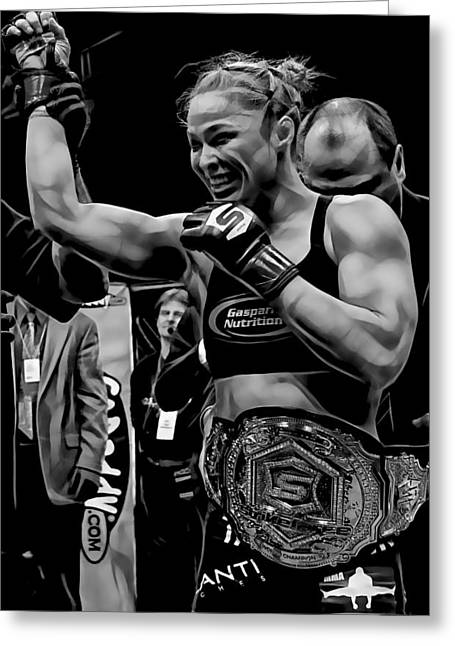 Ronda Rousey Mma Greeting Card by Marvin Blaine