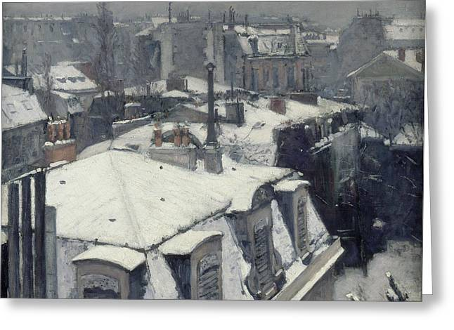 Rooftops In The Snow  Greeting Card