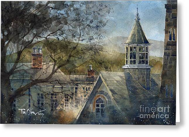 Rooftops Of Old Edwards Greeting Card by Tim Oliver