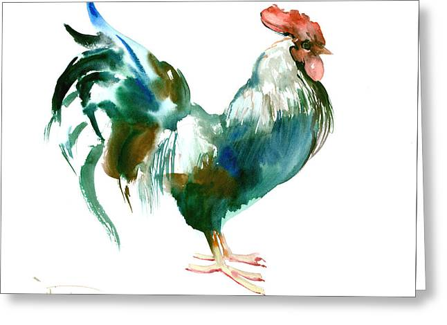 Rooster Greeting Card by Suren Nersisyan