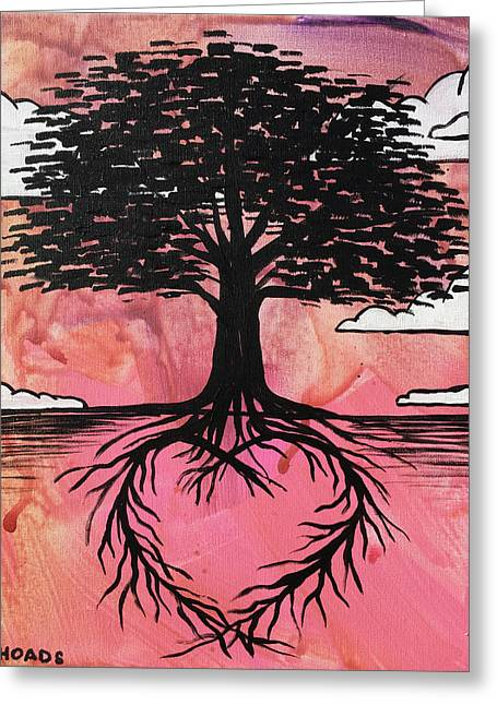 Greeting Card featuring the painting Rooted In Love by Nathan Rhoads