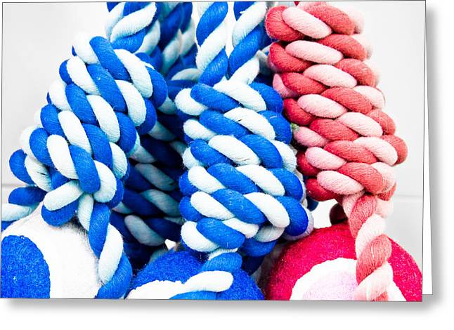 Rope Toys Greeting Card by Tom Gowanlock