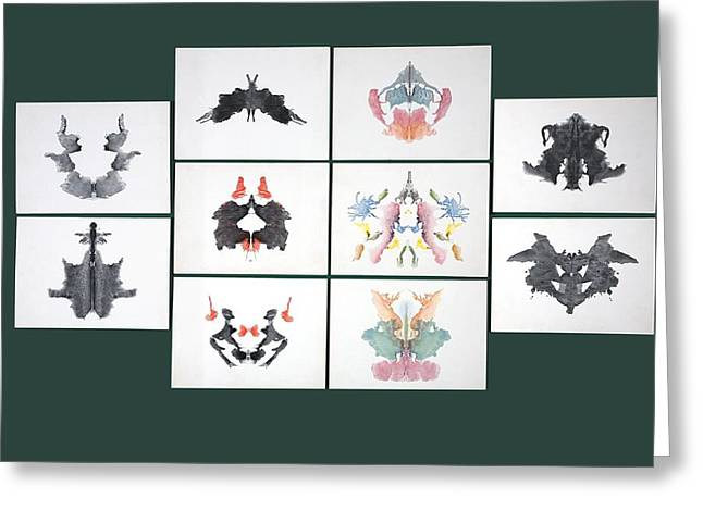 Rorschach Inkblot Test Greeting Card by Sheila Terry