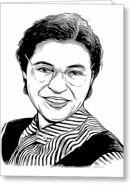 Rosa Parks Greeting Card by Greg Joens