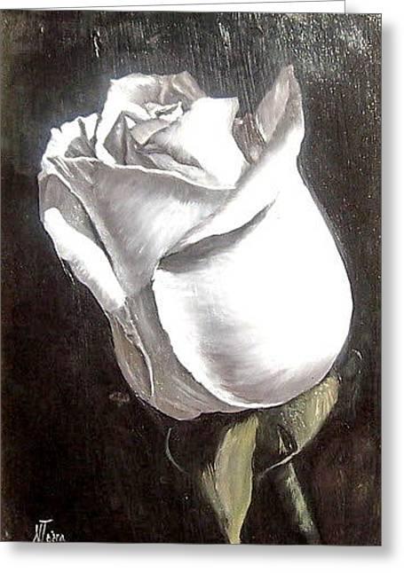 Rose 2 Greeting Card by Natalia Tejera