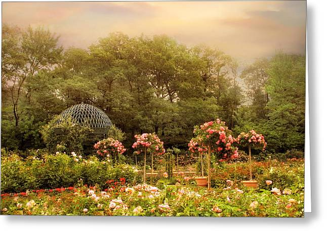 Rose Garden Greeting Card by Jessica Jenney