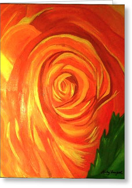 Rose Greeting Card by Misty VanPool