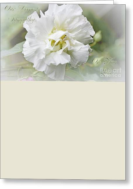 Greeting Card featuring the photograph Rose Of Sharon by Elaine Teague