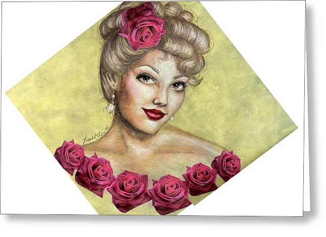 Rose Greeting Card by Scarlett Royal
