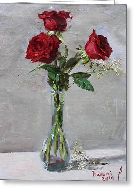Roses For Viola Greeting Card