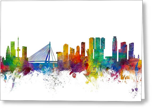 Rotterdam The Netherlands Skyline Greeting Card