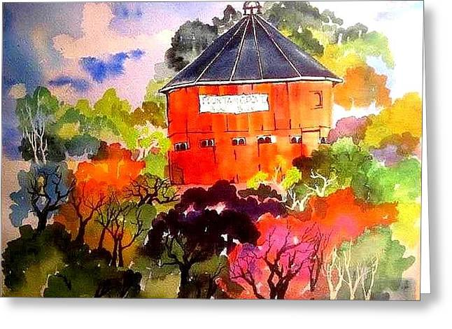 Round Barn ,santa Rosa Greeting Card