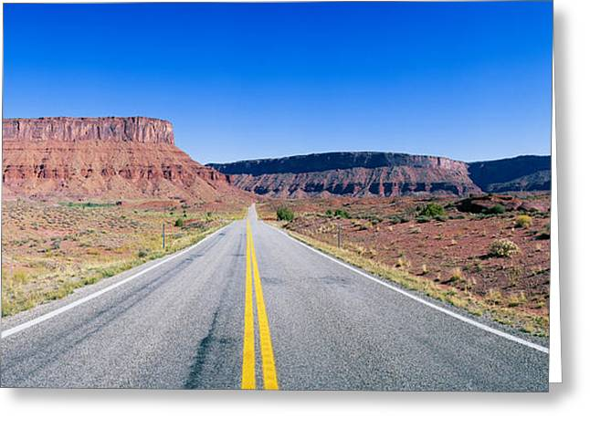 Route 128, Colorado River, View Greeting Card by Panoramic Images