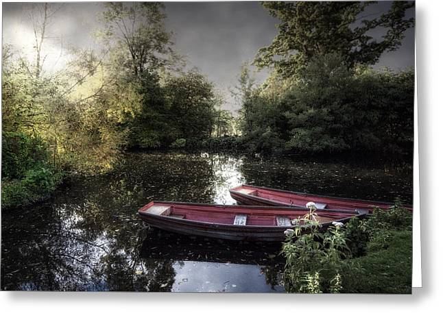 Rowing Boats Greeting Card