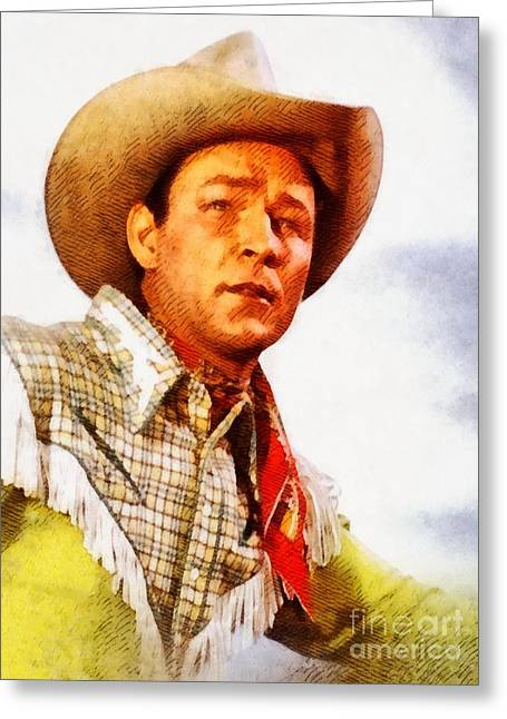 Roy Rogers, Vintage Western Legend Greeting Card by John Springfield