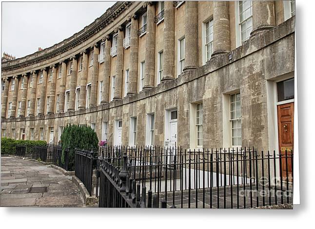 Royal Crescent In Bath Greeting Card by Patricia Hofmeester