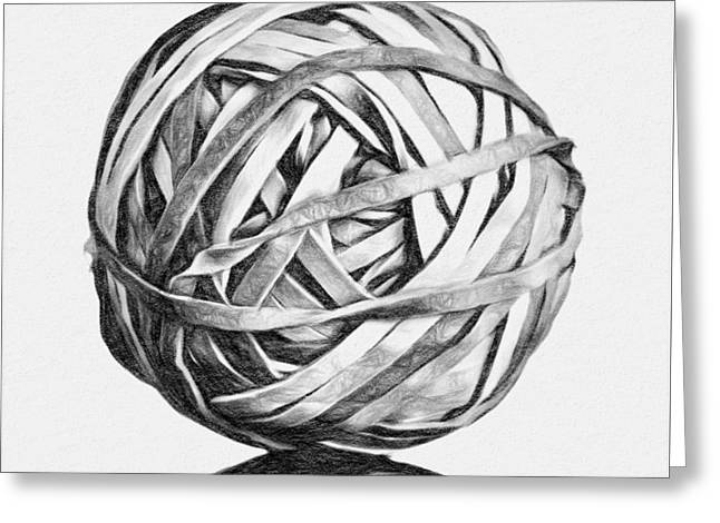Rubber Band Ball Greeting Card
