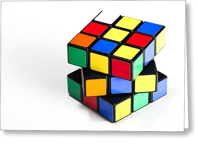 Rubiks Cube Greeting Card by Photo Researchers